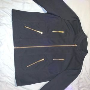 Michael Kors Jackets & Coats - Michael Kors black jacket with gold zips